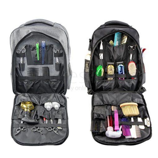 Wahl Backpack Grey and Black Interior
