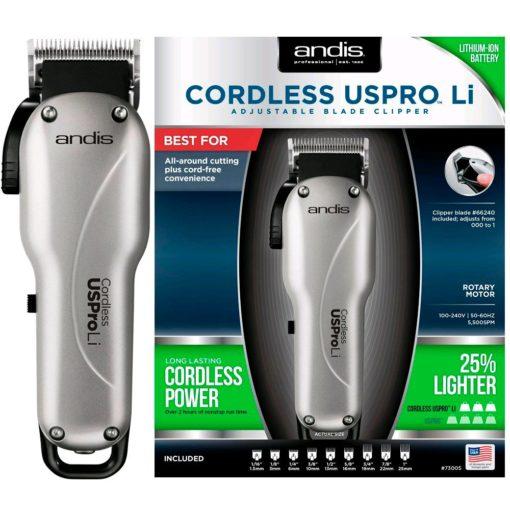 Andis Cordless USPRO Li Adjustable Blade Clipper #73005