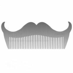 Stainless Steel Moustache Design Beard Comb